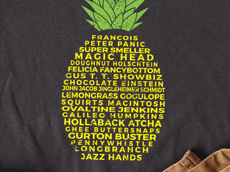 closeup of t-shirt design
