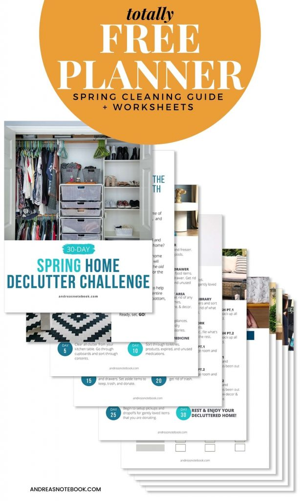 stack of PDF papers how how to declutter your home